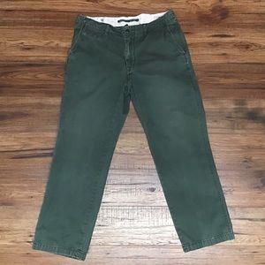 EUC POLO green khakis six 36x32